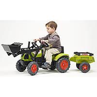 Детский трактор на педалях с прицепом и передним ковшом Falk CLAAS Arion - 2040CM