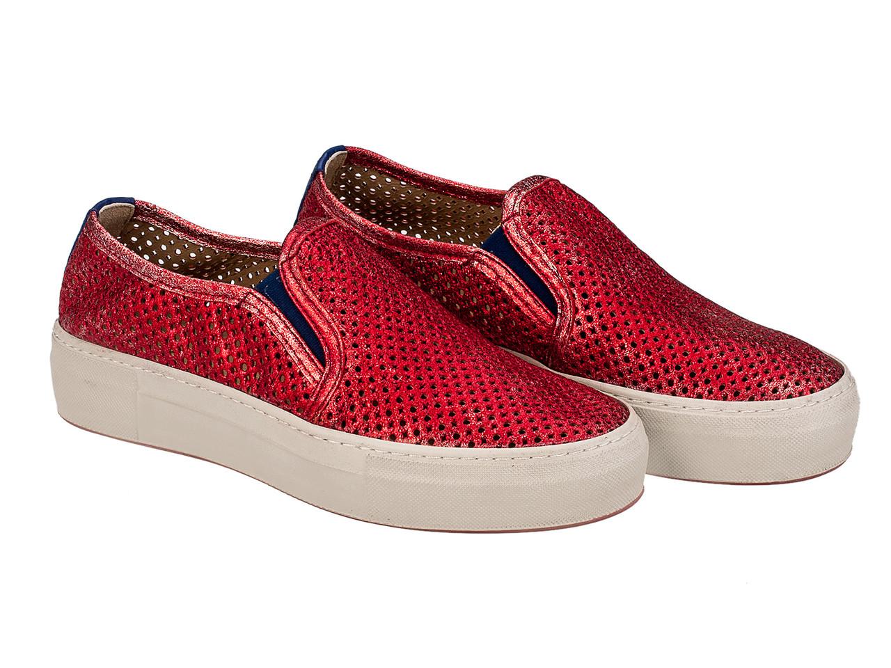 Слипоны Etor 5285-1927-57 38 красные