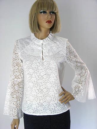 Блузка біла гіпюрова Miss Point , фото 2