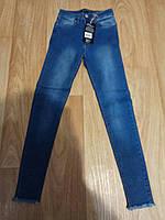 Женские джинсы синие,зауженные к низу,хорошо тянутся