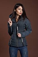 Женская молодежная демисезонная куртка, синий, S, M, L размеры