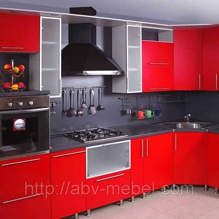 Кухня под заказ фасад МДФ крашеный столешница из искусственного камня, фото 2