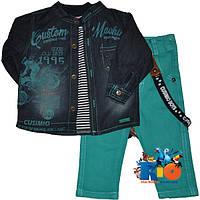"""Оригинальный детский костюм-тройка """"Cusimio Boys"""" , для мальчика от 6-9-12-18 мес ."""