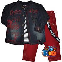 """Оригинальный детский костюм-тройка """"Cusimio Boys"""" , для мальчиков от 6-9-12-18 мес ."""
