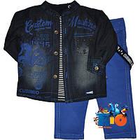 """Оригинальный костюм-тройка """"Cusimio Boys"""" , для мальчика от 6-9-12-18 мес ."""