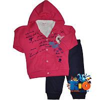 "Яркий костюм-тройка ""Tender Minnie"" , для девочки от 6-9-12 мес"
