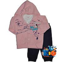 "Яркий детский костюм-тройка ""Tender Minnie"" , для девочки от 6-9-12 мес"