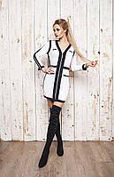 """Облегающее мини-платье на молнии """"Trinity"""" с контрастными вставками (2 цвета)"""