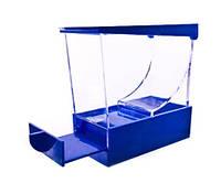 Диспенсер средний для валиков,выдвижной, синий