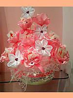 Букет из конфет на 8 марта Розовый лепесток