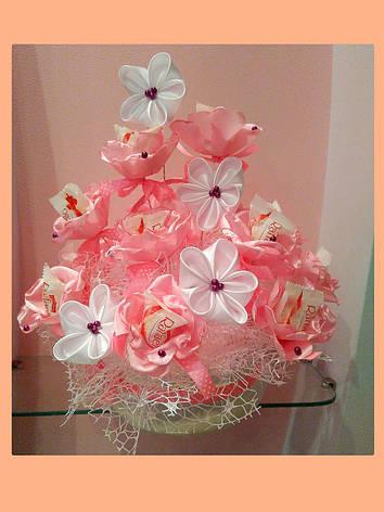 Букет из конфет на 8 марта Розовый лепесток, фото 2