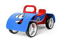 Машинка каталка деревянная  голубая  Junior   Milly Mally Польша