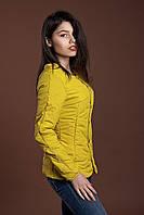 Женская молодежная демисезонная куртка, горчица, S, M, L, XL размеры