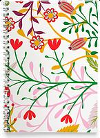 Блокнот Тетрадь Красные Маки (растения, цветы, флора, узоры)