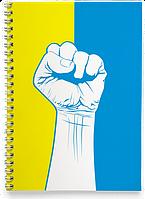 Блокнот Зошит Кулак Патріота (Чашка з українською символікою,), фото 1