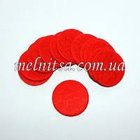 Фетровая заготовка  круг 2,5 см,цвет красный, 10 шт.