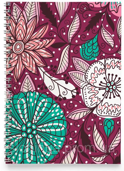 Блокнот Тетрадь Фиолетовые Цветы (растения, цветы, флора, узоры)