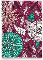 Блокнот Тетрадь Фиолетовые Цветы (растения, цветы, флора, узоры), фото 1