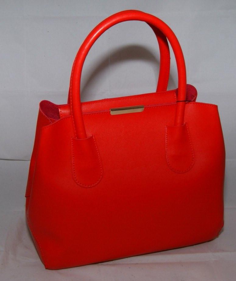 Женская красная сумка-шопер B.Elit