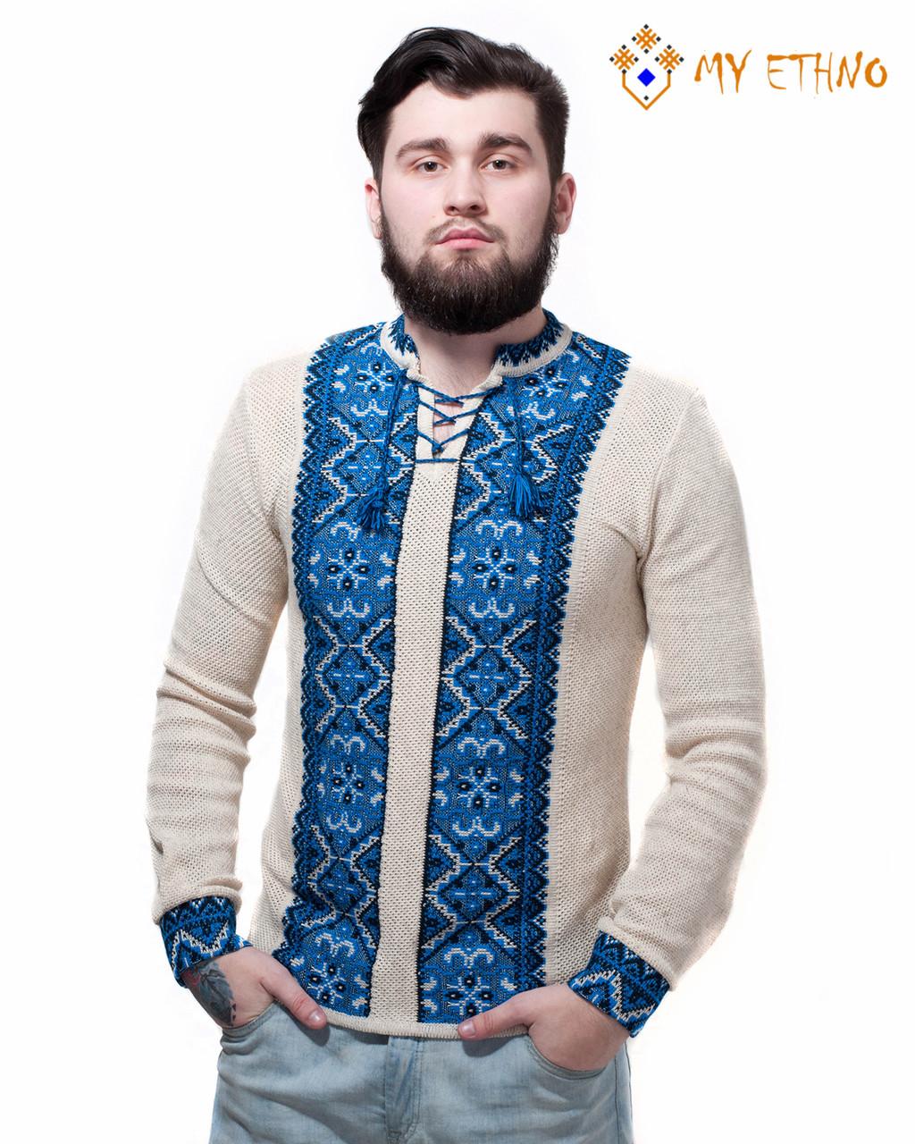 Мужская вязаная рубашка Влад ультра