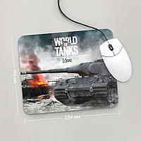 Коврик для мыши 234x194 Löwe, World Of Tanks 2 (лев, Танки, танчики, WOT)