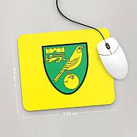 Коврик для мыши 234x194 Norwich, Premier League (Футбол)