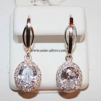 Серьги серебро с золотом Анжела, фото 1