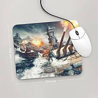 Коврик для мыши 234x194 World Of Warships, #7 (Варшипс, корабли, Игра)
