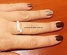 Кольцо серебро с золотом Глория, фото 2