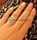 Кольцо серебро с золотом Бьянка, фото 2
