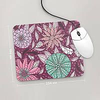 Коврик для мыши 234x194 Цветы №2 (растения, цветы, флора, узоры)