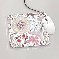 Коврик для мыши 234x194 Цветы №9 (растения, цветы, флора, узоры)