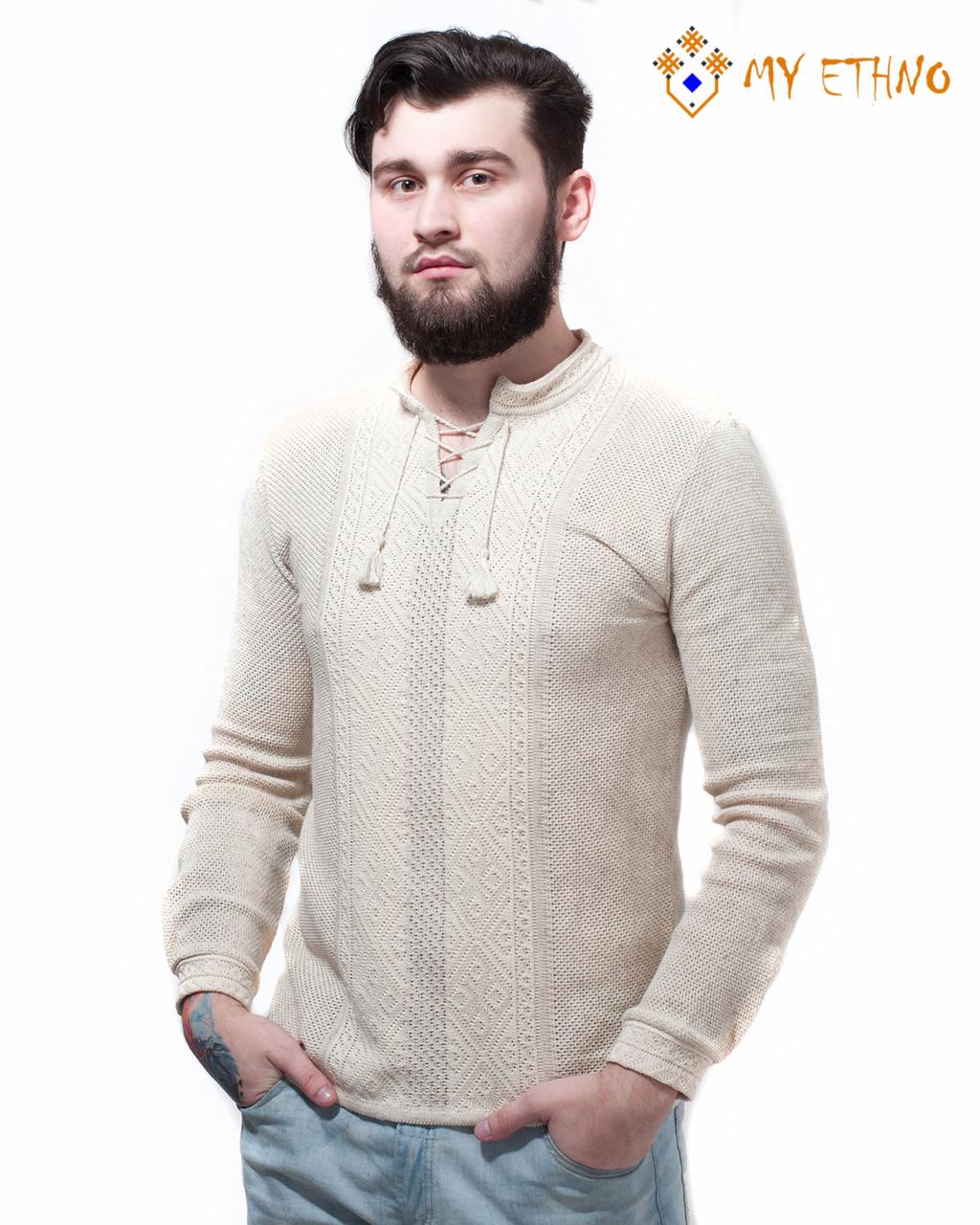 Мужская вязаная рубашка Назар (лен)