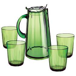 Наборы для сока, кувшины и стаканы из пластмассы