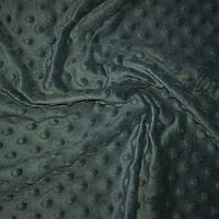 Плюш минки тёмно-серый, графитовый, ширина 84 см
