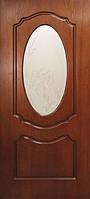 Двери Ольвия стекло с рисунком шпон натуральный