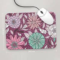 Коврик для мыши 290x210 Цветы №2 (растения, цветы, флора, узоры)