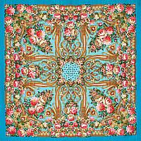 """Платок шерстяной с просновками и шелковой бахромой """"Именинница"""", вид 11, 146x146 см"""