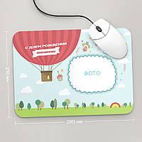 Коврик для мыши большой с фото С Днем Рождения, Рамка, №7