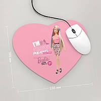 Коврик для мыши Сердце Barbie, Барби, №1