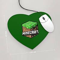 Коврик для мыши Сердце Minecraft 3 (Игра)