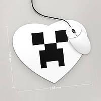 Коврик для мыши Сердце Minecraft 4 (Игра)