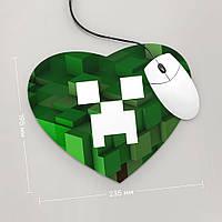 Коврик для мыши Сердце Minecraft 5 (Игра)