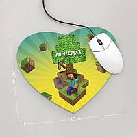 Коврик для мыши Сердце Minecraft 1 (Игра)
