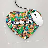 Коврик для мыши Сердце Minecraft 2 (Игра)