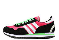 Кроссовки женские Adidas ZX400 Hyper Pink Black White Lime Green (адидас) розовые
