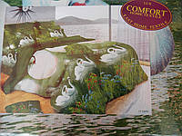 """Набор постельный """"Lux COMFORT"""", двуспальный комплект, 190x230, белые лебеди, фото 1"""