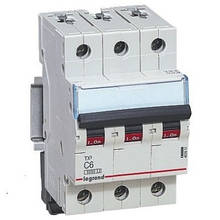 Автоматичний вимикач Legrand TX3 -3P 6А, З