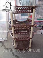 Этажерка овальная Efe plastics (коричневая)