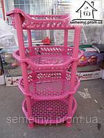 Этажерка овальная Efe plastics (розовая)